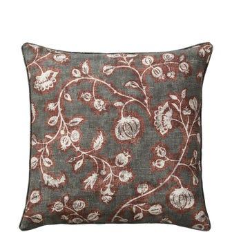 Anar Cushion Cover(51cmSq) - Lead/Walnut