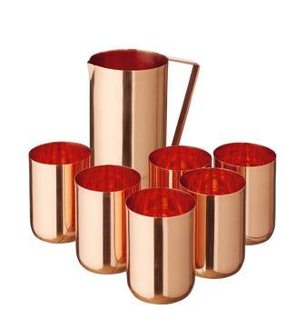 Andina Jug and Tumbler Set - Copper