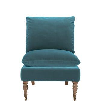 Apadana Armless Chair - Air Force Blue