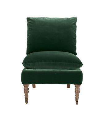 Apadana Armless Chair - Midnight Green