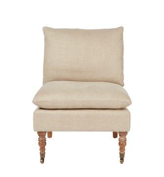 Apadana Herringbone Linen Armless Chair
