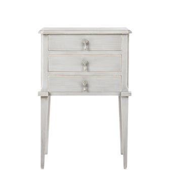 Aquila Bedside Chest of Drawers, Small - Distressed Grey