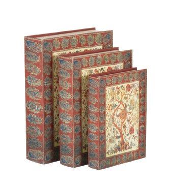 Arboreal Box Files, Set of 3 - Red