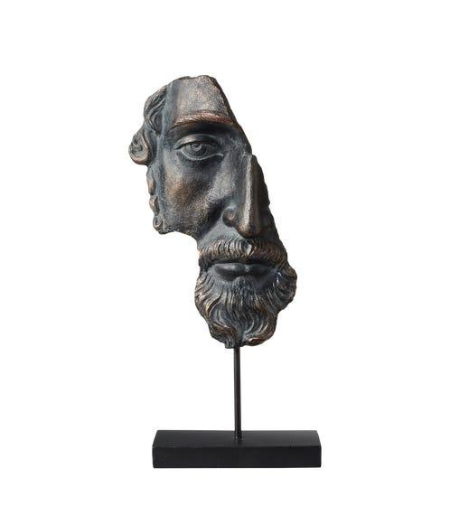 Archytas Half Head Sculpture - Black
