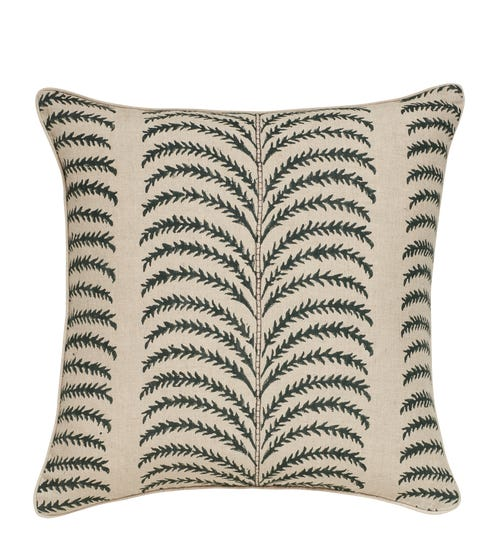 Areca Pillow Cover - MidNight Green