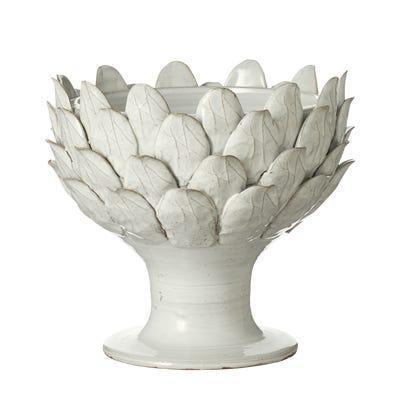 Artichoke Serving Bowl - White