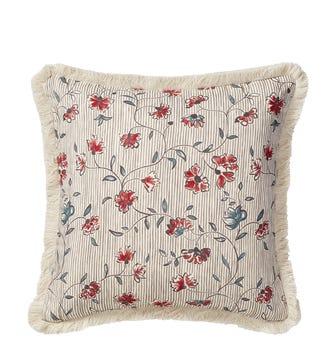 Ashoka Cushion Cover (51cmSq) - Charcoal/Venetian Red