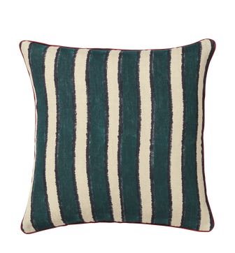 Atet Cushion Cover - Petrol / Red