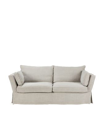 Aubourn 3 Seater Sofa Cover - Silver Grey