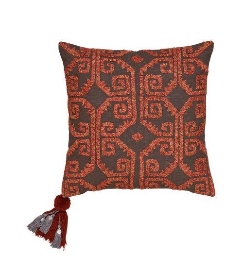 Audrey Emb Linen Pillow Cover