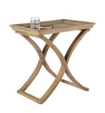 Avignon Weathered Oak Side Table - Wood
