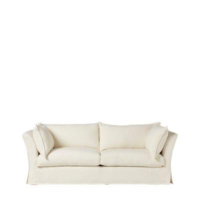 Avitus 3-Seater Sofa - Linen White