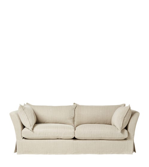 Avitus 3-Seater Sofa - Flax Narrow Herringbone