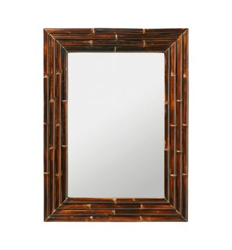 Bamboo Mirror - Dark Brown