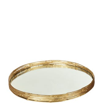 Bamboo Tray - Brass