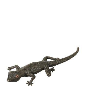 Beady Eyed Gecko Bottle Opener - Antique Bronze