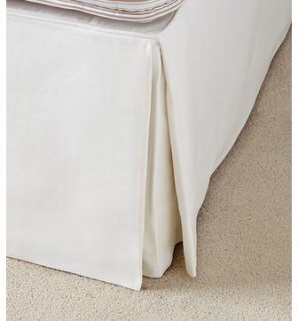Bed Valance  Cotton, Super King - White