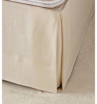 Bed Valance Linen, Single - Natural