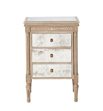 Benais Small Chest of Drawers - Antiqued Mirror