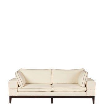 Blake Sofa - Linen - Off White - 3 Seat
