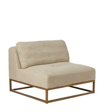 Botero Armless Sofa Chair - Natural