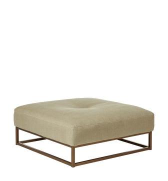 Botero Footstool - Sand Wide Herringbone