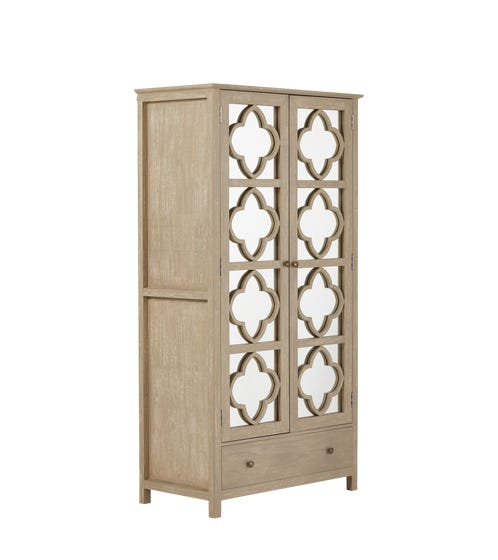 Bourges Mirrored Wooden Cabinet - Natural