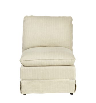 Bretigny Armless Chair - Flax Narrow Herringbone