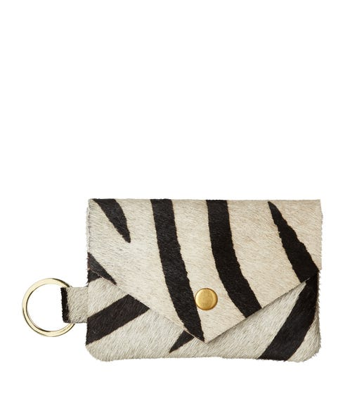 Bristow Wallet with Keyring - Black/White