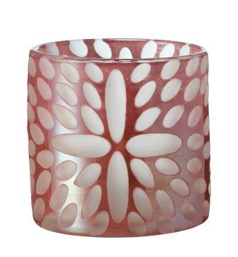 Bukva Glass Candle Holder - Pink