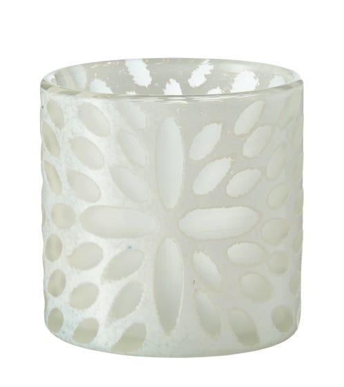 Bukva Glass Candle Holder - White