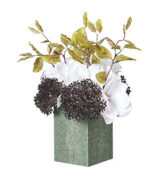 Faux Shagreen Vase