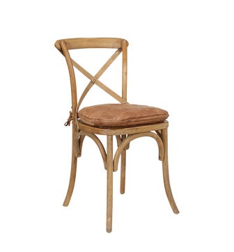 Camargue Chair Leather Seat Pad - Aged Tobacco Leather
