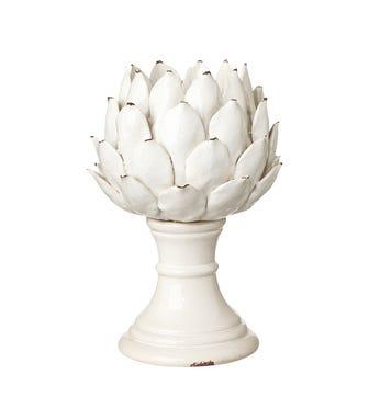 Cardoon Candle Holder, Large - White