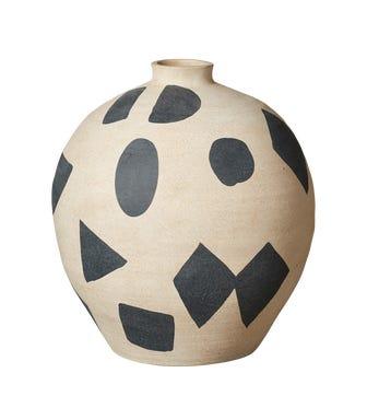 Cariape Abstract Decorative Pot - Sand