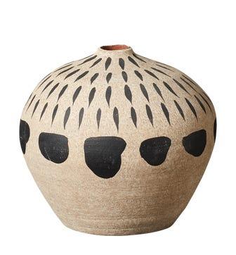 Cariape Dashes Decorative Pot - Sand