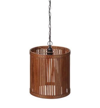 Cevoli Leather Lantern Large -?Aged Tobacco