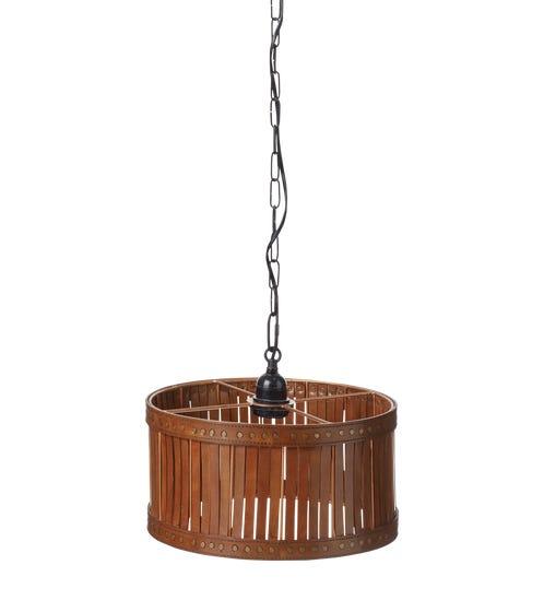 Cevoli Leather Lantern Small -?Aged Tobacco