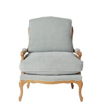 Chantal Linen Chair - Ice Blue