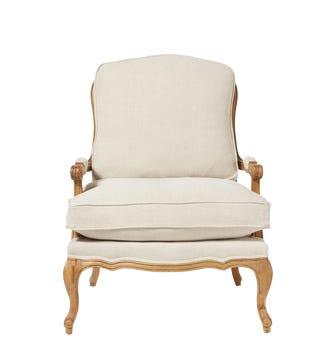 Chantal Linen Chair - Natural