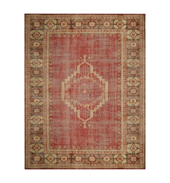 Chartwell Rug, Aged Finish - Red