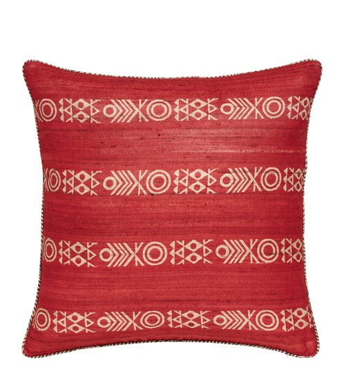 Chuma Reversible Pillow Cover - Red/Black