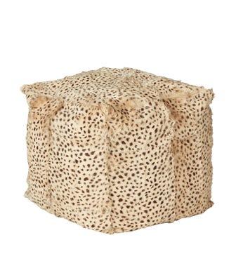 Chyangra Goat Fur Floor Cushion Large - Cheetah