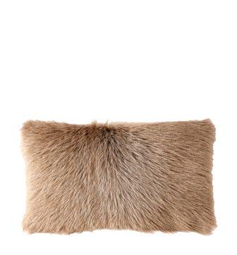 Chyangra Goat Hair Cushion Cover - Fawn