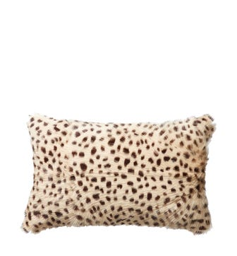 Chyangra Goat Hair Cushion Cover - Cheetah