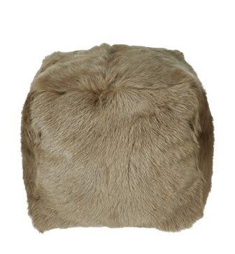 Chyangra Goat Hair Floor Cushion - Fawn