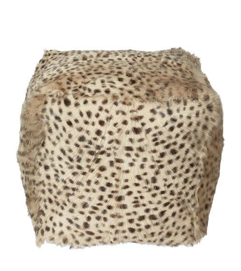 Chyangra Goat Hair Floor Cushion - Cheetah