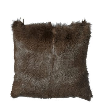 Chyangra Goat Hair Pillow Cover - Sable