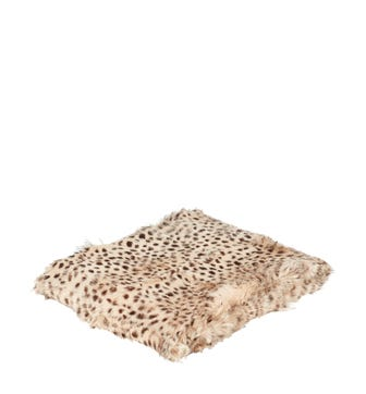 Chyangra Goat Hair Throw - Cheetah