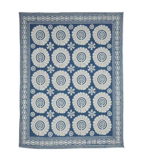 Cimkent Large Handwoven Rug, Blue - Pale Blue